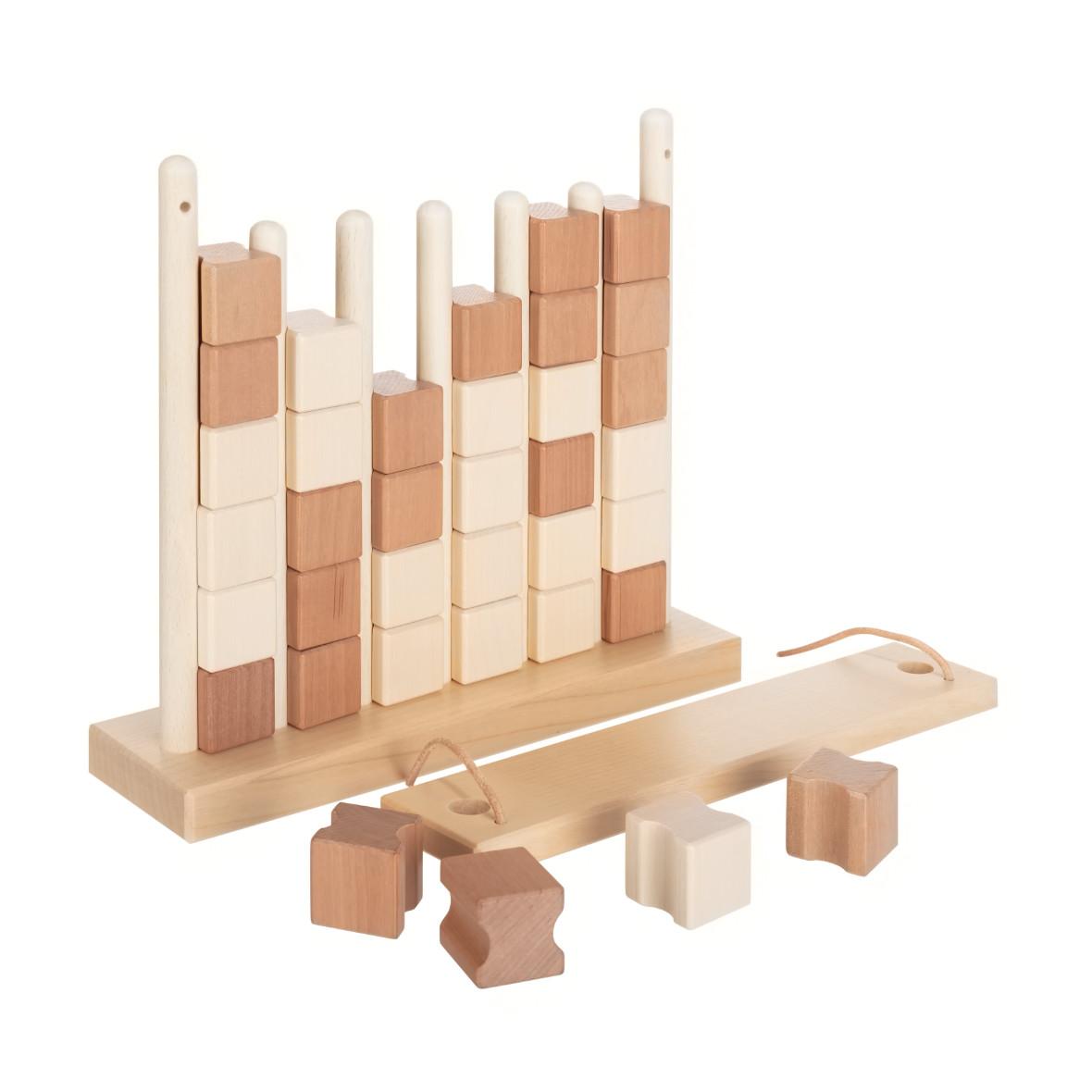 Vier-Gewinnt aus Holz von Ahorn Holz und Spiel, braun