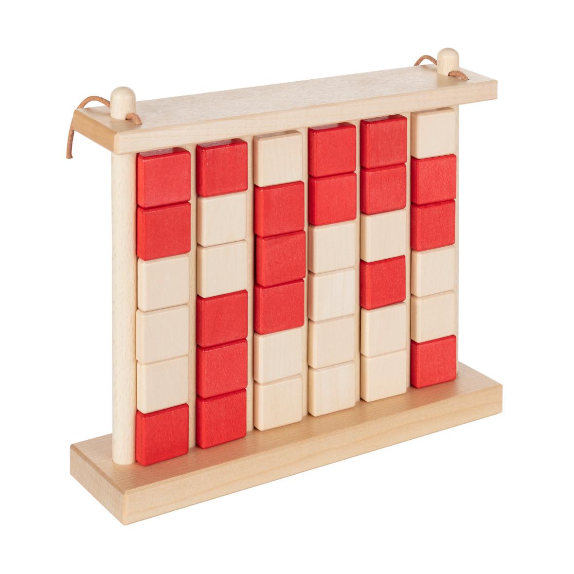 Vier-Gewinnt aus Holz von Ahorn Holz und Spiel, rot und verschlossen