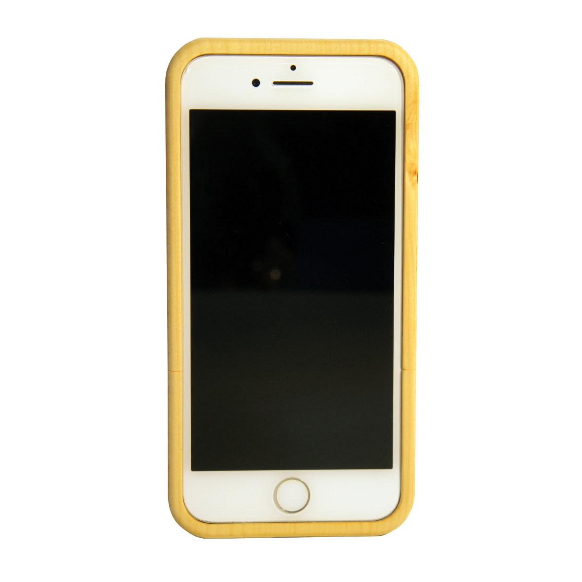 iPhone 7- und 8-Hülle aus Arvenholz von Dschember, Frontansicht