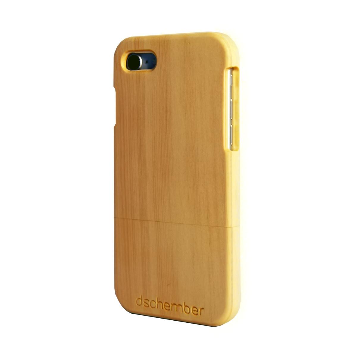 iPhone 7- und 8-Hülle aus Arvenholz von Dschember, Rückansicht