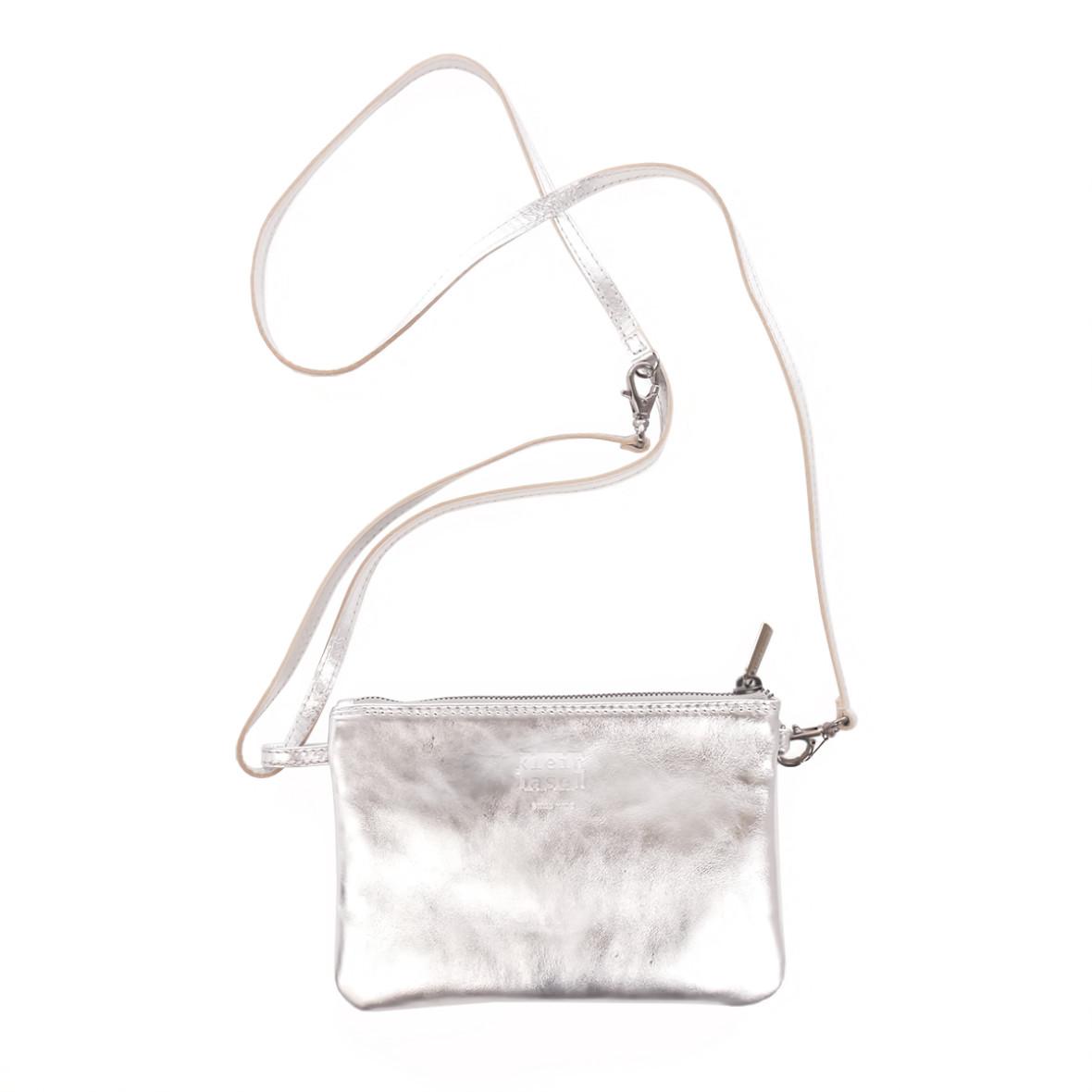 Umhängetasche Linea in Laminato Silver von Kleinbasel