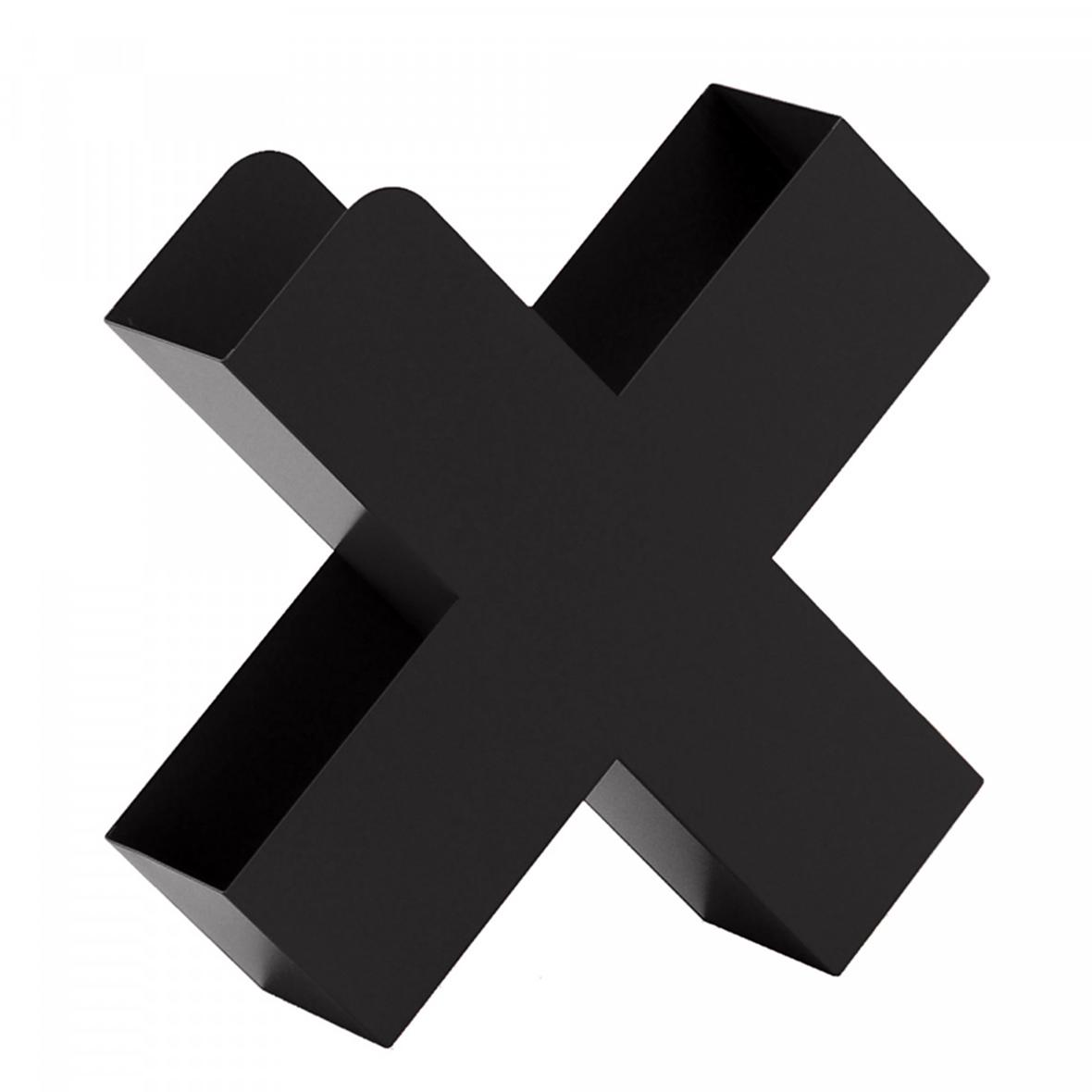 Zeitschriftenhalter Bukan schwarz von Mox