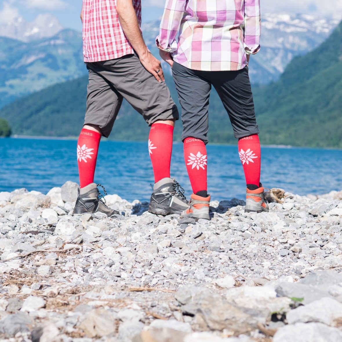 Mountain Socken mit Edelweiss von Sgivaris