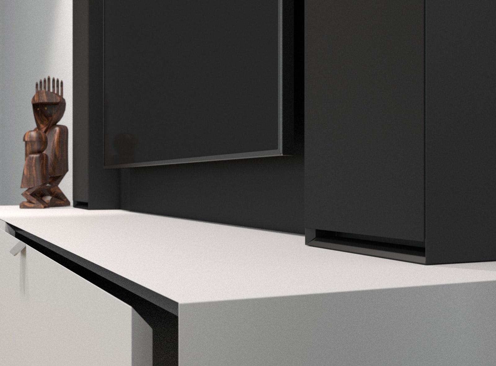 Möbel Swiss HD Longboard Ausschnitt Schublade von Dynavoy