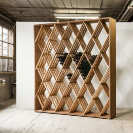 Weinflaschenregal Rhombus von Eicher Holzwaren