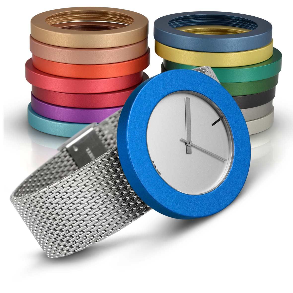 Pierre Junod Swiss Made Vignelli Uhren