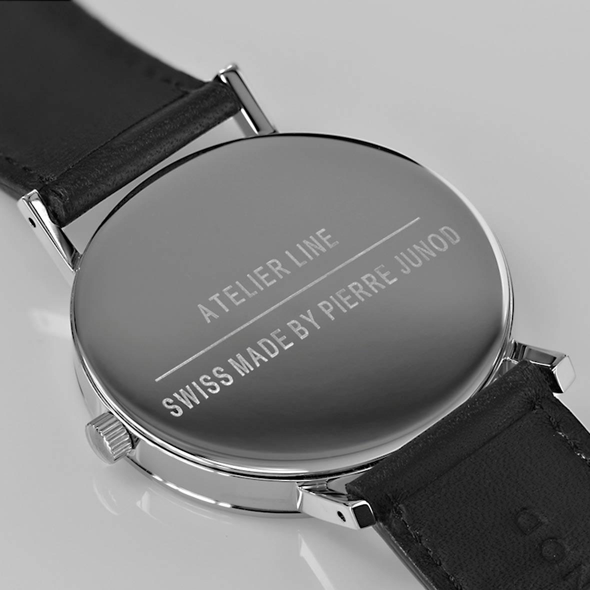 Armbanduhr Silver Leaf Quarzuhrwerk - Swiss Made - by Atelier Pierre Junod