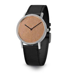 Armbanduhr Cooper Leaf - Quarzuhrwerk aus Edelstahl - Zifferblatt Blattkupfer - by Atelier Pierre Junod