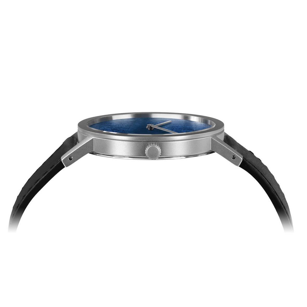 Armbanduhr Blue Leaf - Quarzuhrwerk - Durchmesser 34 mm bis 38 mm - by Atelier Pierre Junod