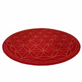 Teppich Lebensblume - Schnurwolle - terrarot - erdgold