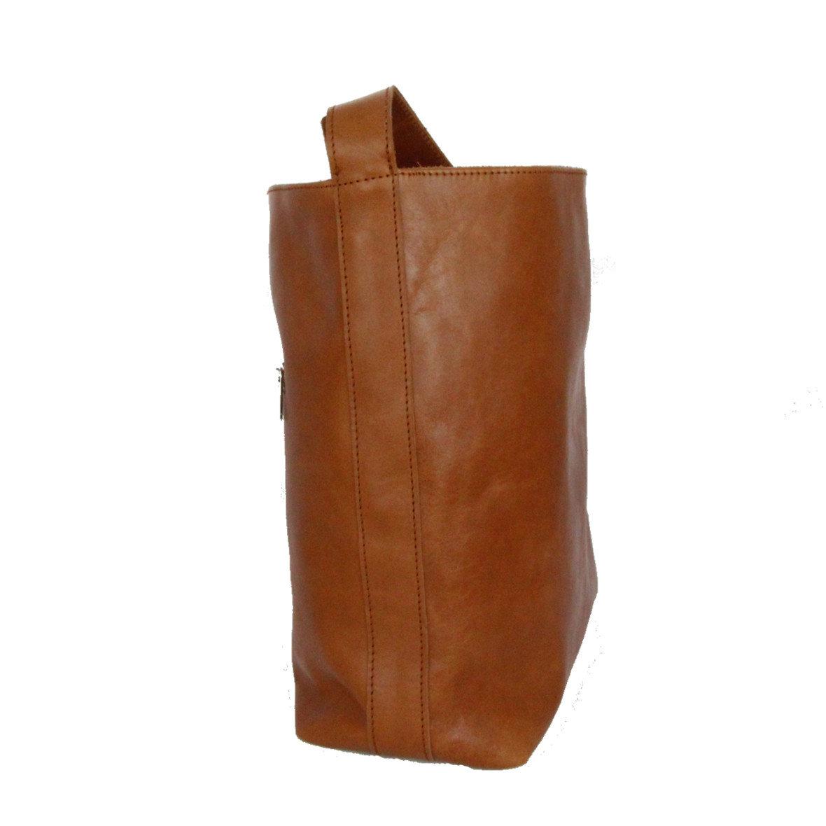 Handtasche - Olivenleder - Seite