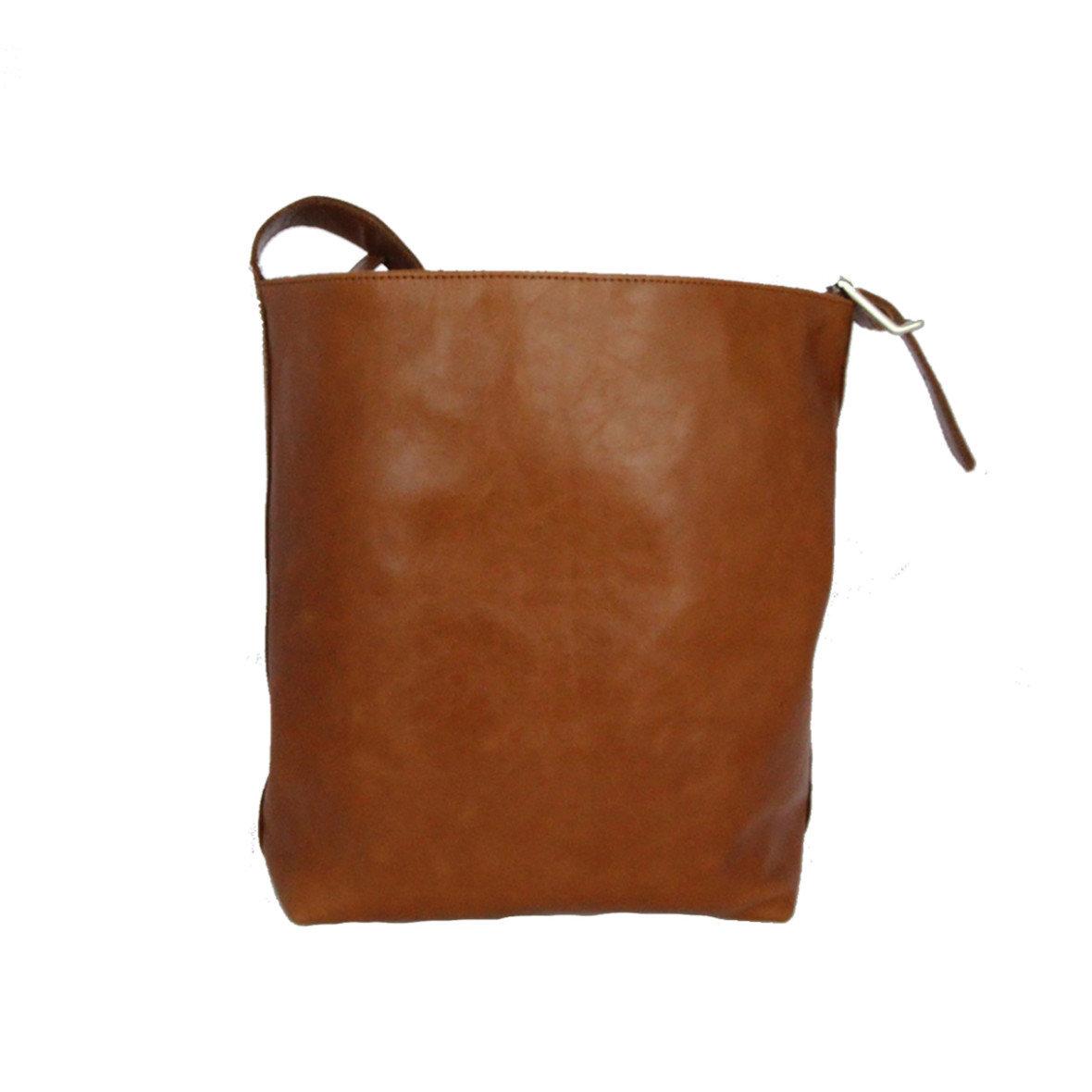 Handtasche - Olivenleder - mittel-/dunkelbraun