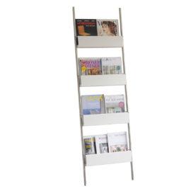 Anlehnregal Step Set 3 – Zeitschriften - Edelstahl