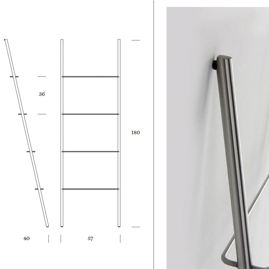 Anlehnregal Step Set - Masse - Skizze Mox