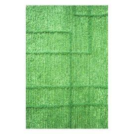 Handtuftteppich Ravel - Schnurwolle - Leinen - grün