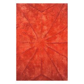 Handtuftteppich Tschaikowsky - Leinen - Schnurwolle - orangerot