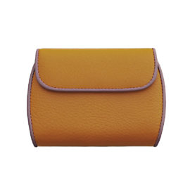 Portemonnaie CLAM 171 - Farbe orange - Bordüre lila - innen pistache