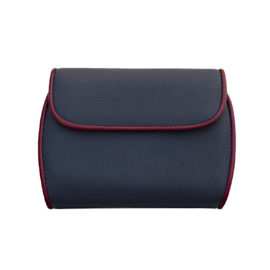 Portemonnaie CLAM 173 - Farbe marine - Bordüre rubin - innen marine