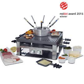 Raclette, Tischgrill und Fleischfondue im Combi-Set