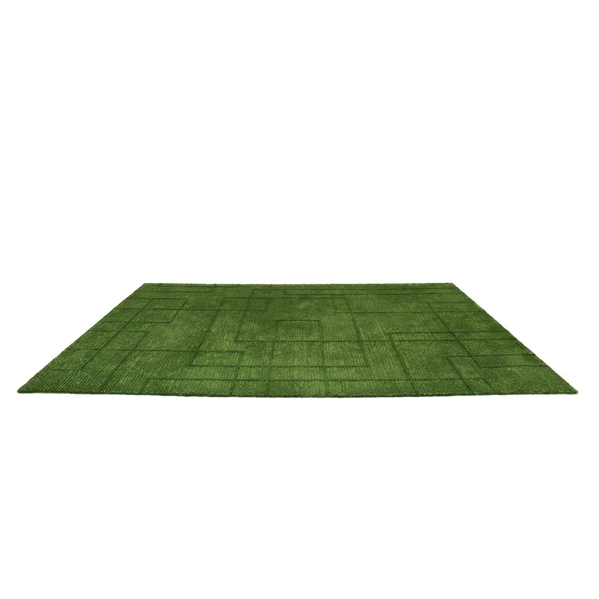 Handtuftteppich Ravel - Schnurwolle - Leinen - grün - 240 x 170 cm