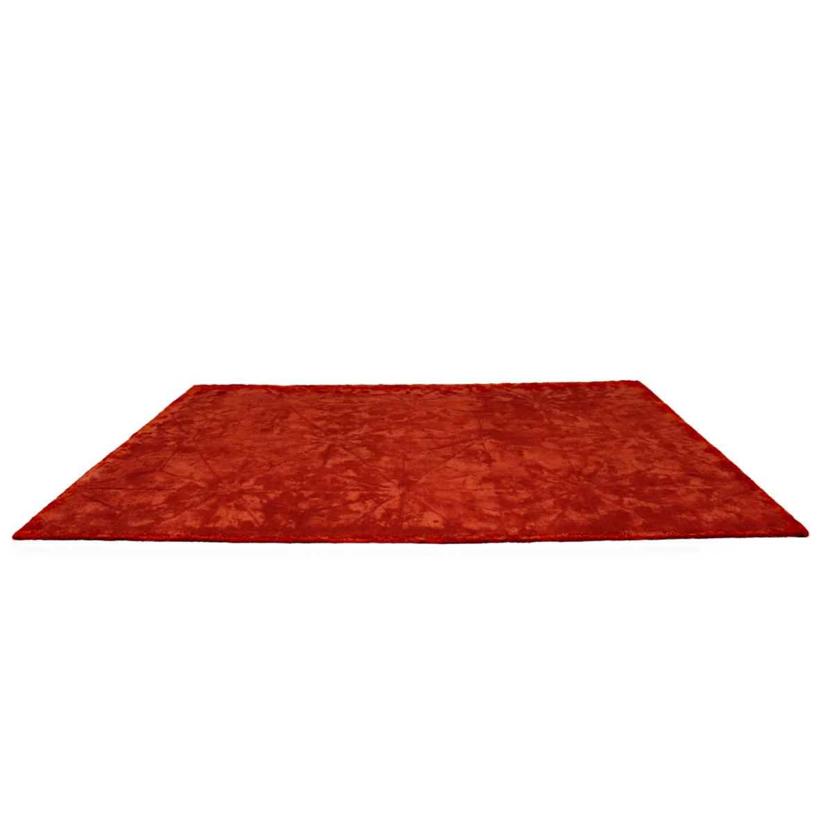 Handtuftteppich Tschaikowsky - Leinen - Schnurwolle - orangerot - 240 x 170 cm