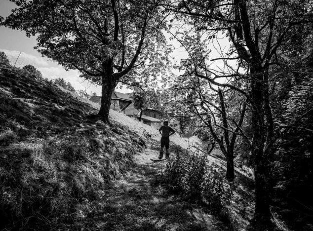 Bruno Muff auf seinem Hof im luzernischen Weggis