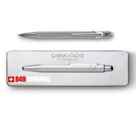 Kugelschreiber 849 Original Aluminium - extraflaches Etui grau