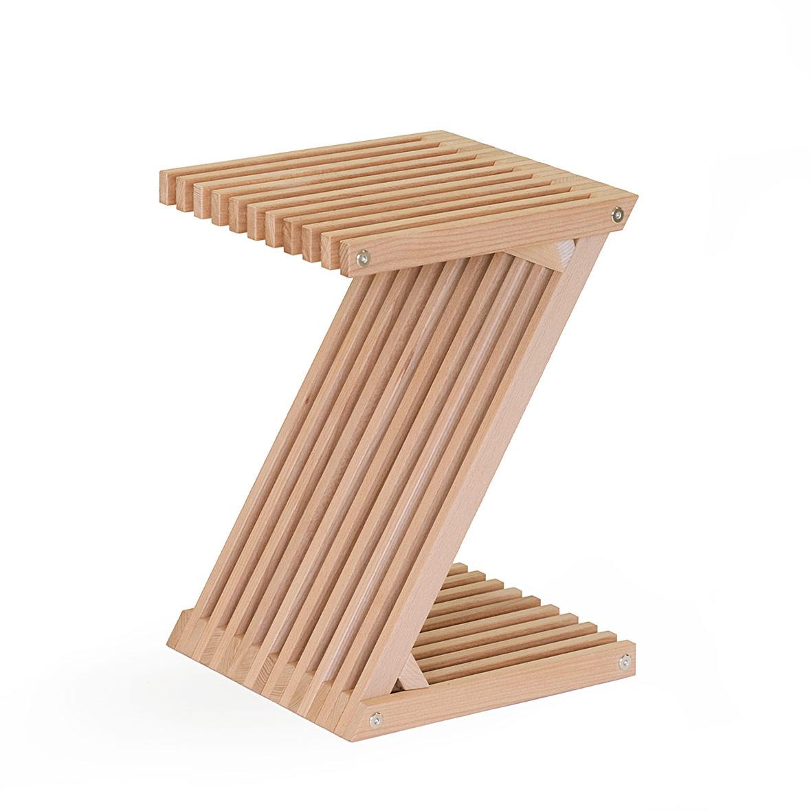 Holzmöbel Z-Hocker - Schweizer Buchenholz - FSC Zertifziert