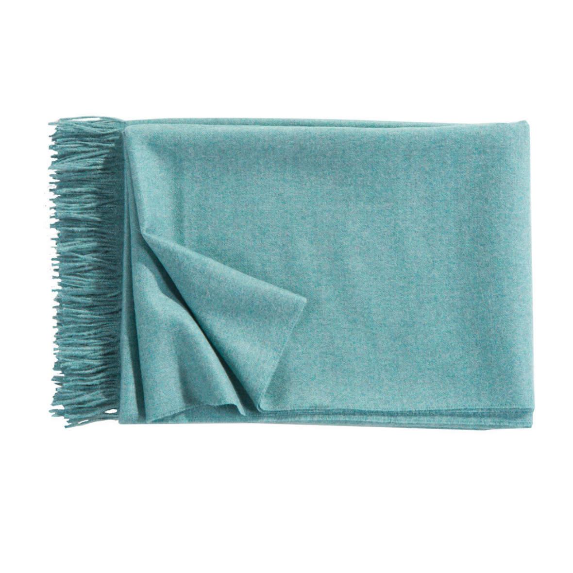 Plaid Puro - Alpaca - Farbe aquamarine - Christian Fischbacher