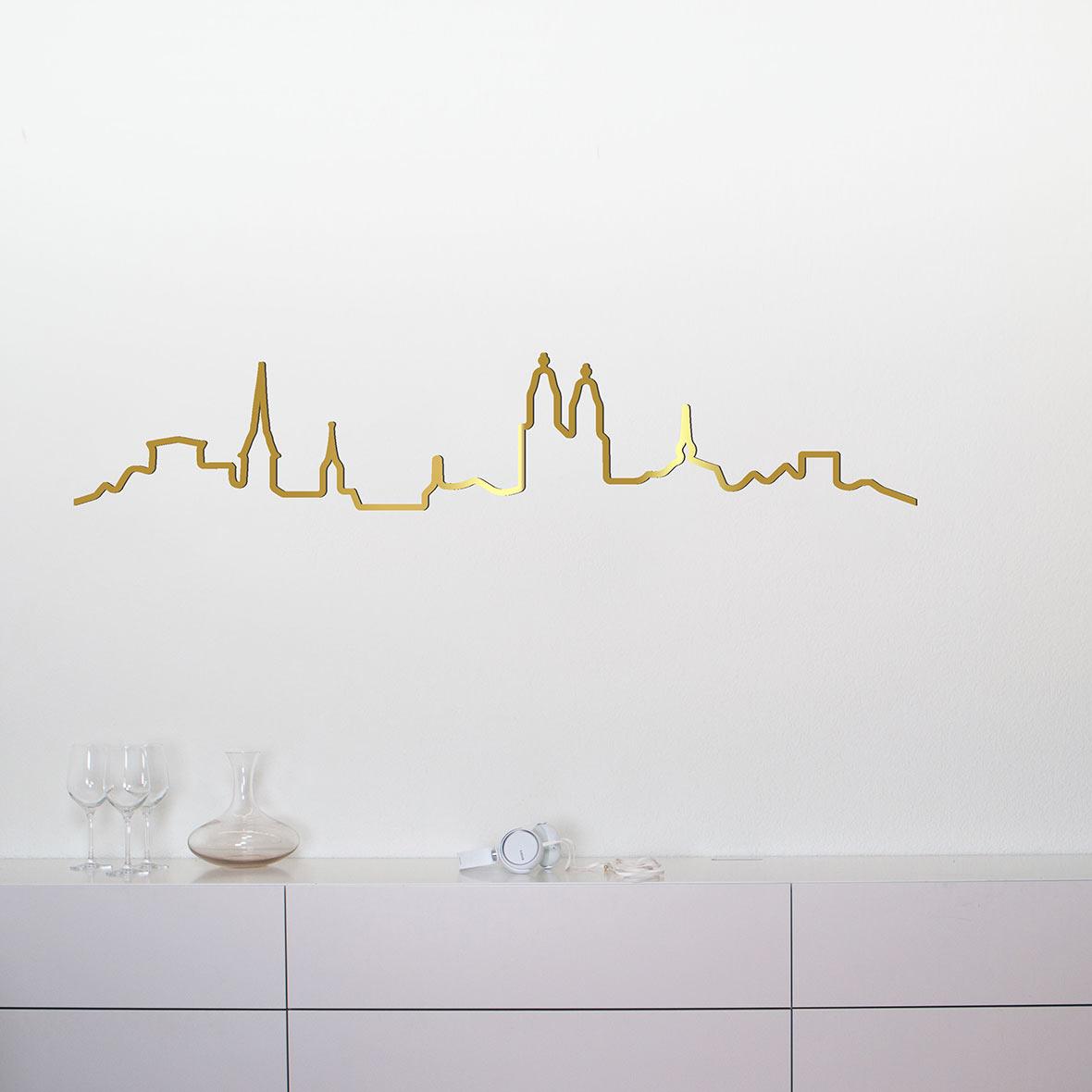 Wandleuchte Kontura City Special Edition - Zürich - unbeleuchtet - messing
