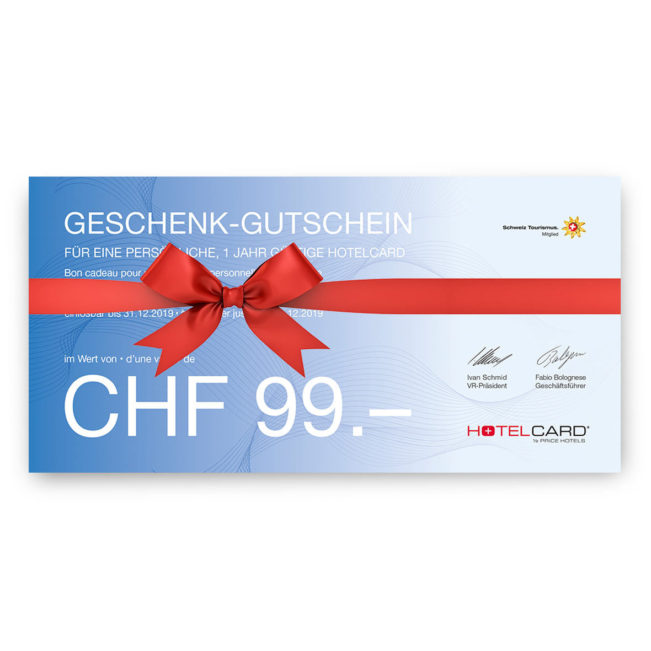 Gutschein Hotelcard
