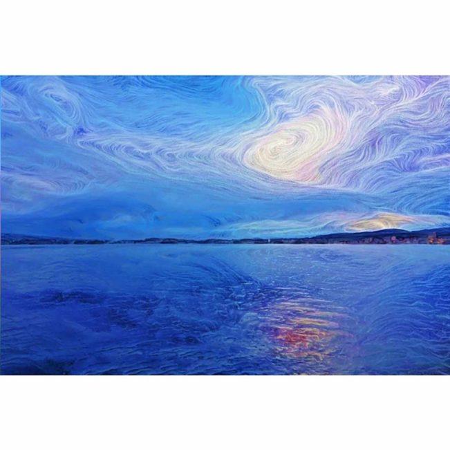 Leinwandbild 'Sonne hinter den Wolken' in limitierter Auflage
