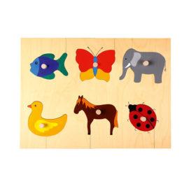 Handgemachtes Griffpuzzle aus Holz