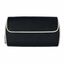 Portemonnaie CURVE 09 - Farbe schwarz - Bordüre ecru - innen kiwi