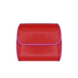Portemonnaie CODES 189 - Farbe rot - Bordüre pink - innen hellgrün