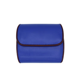 Portemonnaie CODES 187 - Farbe kobaltblau - Bordüre bordeaux - innen lila