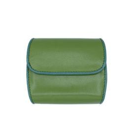 Portemonnaie CODES 190 - Farbe grün - Bordüre petrol - innen hellgrün