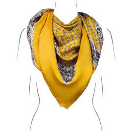 Seidentuch Gelb - handrolliert - Öko-Tex - Kollektion Le Foulard