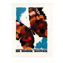 Lithografie - Schweiz - Design Maler Augusto Giacometti - Steinlithodruck