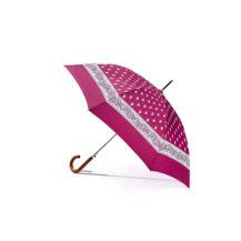 Regenschirm - Glarner Paisley-Motiv - fuchsia - Handöffner