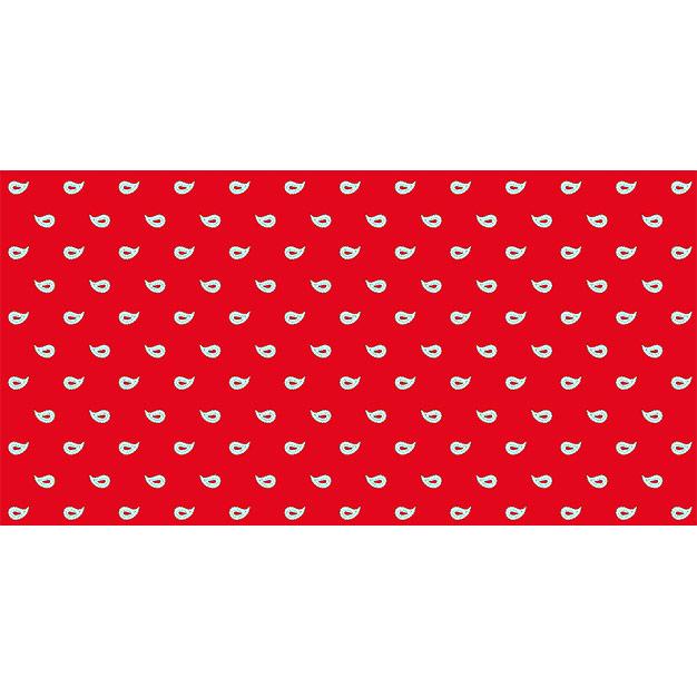 Glarner Tüechli - Paisley-Motiv - Farbe rot