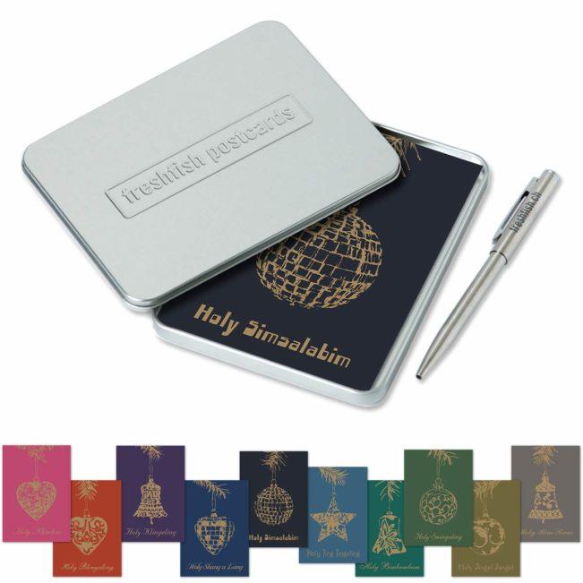 Postcard-Box Holy Simsalabim - Postkarten - Metallkugelschreiber