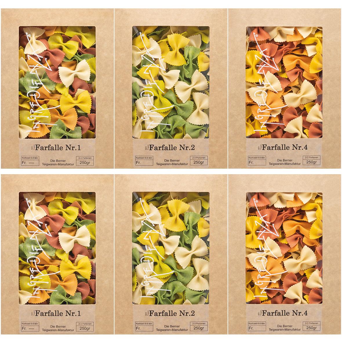 pasta set farfalle ingredienza