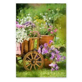 Blankokarte Blumenwagen