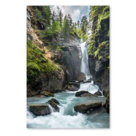 Blankokarte Wasserfall