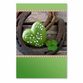 blankokarte herz grün