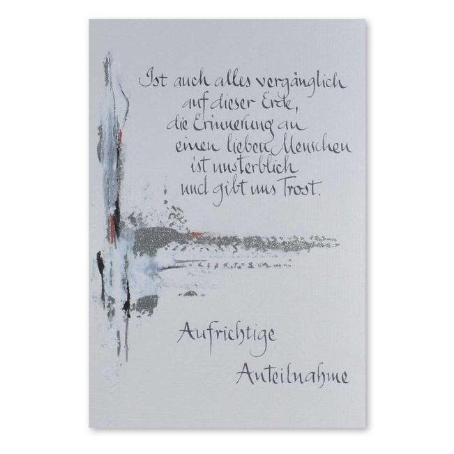 Trauerkarte Kaligrafie