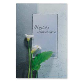 Trauerkarte Blume