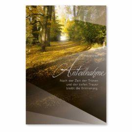 Trauerkarte Waldboden