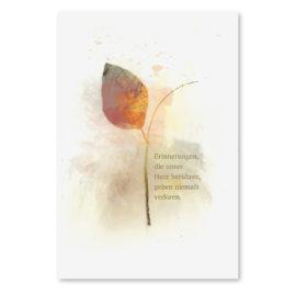 Trauerkarte Blatt